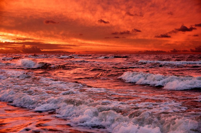 Blood red sea